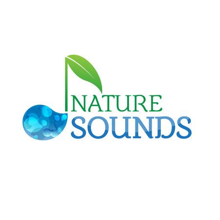 Music nature sounds logo logotype vector icon