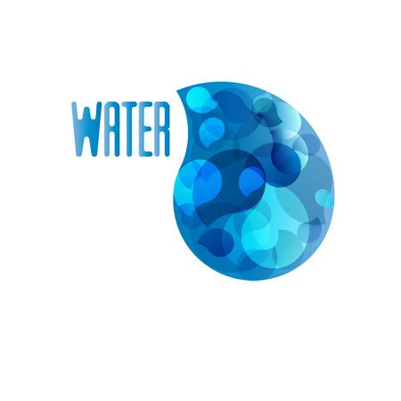 로고 디자인 물의 상징 일러스트