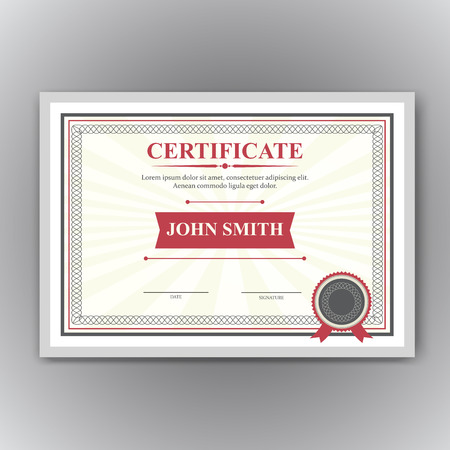 completion: Certificate, Diploma of completion design template, background