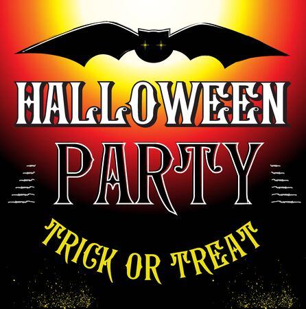 intertainment: Halloween Party Design template poster. Vector illustration