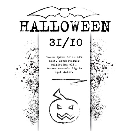 for print: template Halloween invitation for print or website. vector illustration