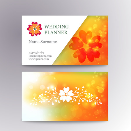 Blurred business card template with flower suitable for wedding blurred business card template with flower suitable for wedding planners or florist owners stock vector friedricerecipe Images