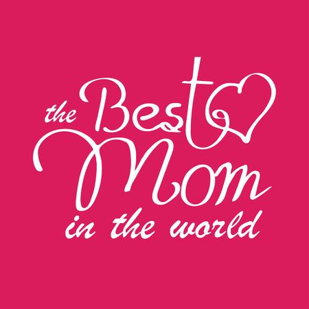 愉快的母亲节印刷传染媒介例证。世界上最好的妈妈礼品卡。