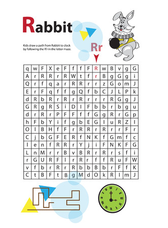 Letter Maze R. This worksheet helps kids recognize and name capital and lowercase letters. Kids also exercise thinking skills and fine motor skills as they navigate the maze.