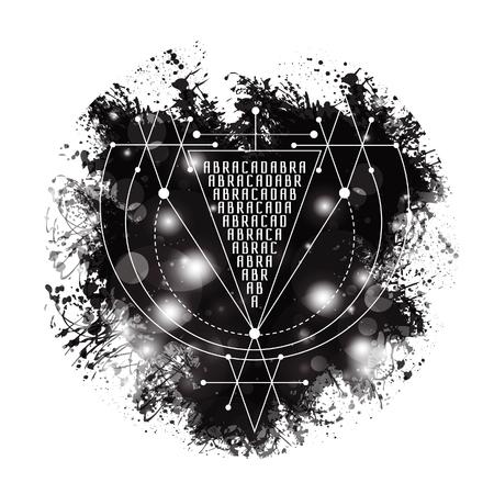 abracadabra: Vector magic alchemy symbol Abracadabra.