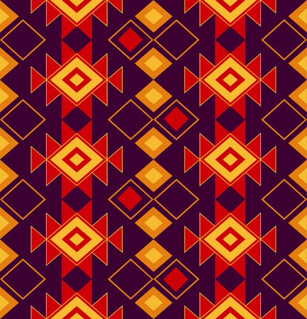 national ornament of the peoples of the North. Tribal seamless pattern for fabric, paper or the web. Tribal pattern with triangles.