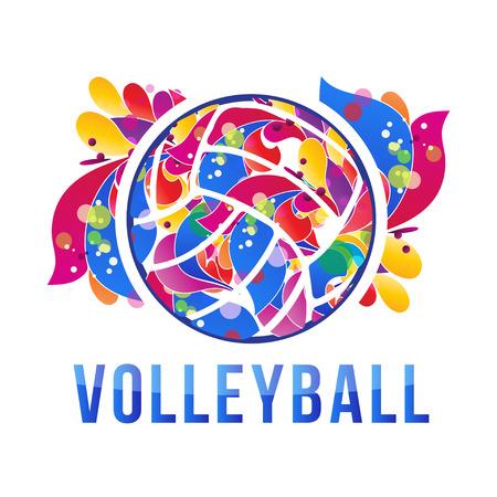 diseño del voleibol Ilustración de vector