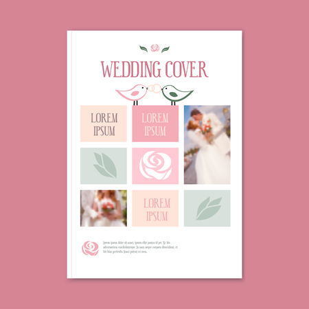 wedding template cover booklet