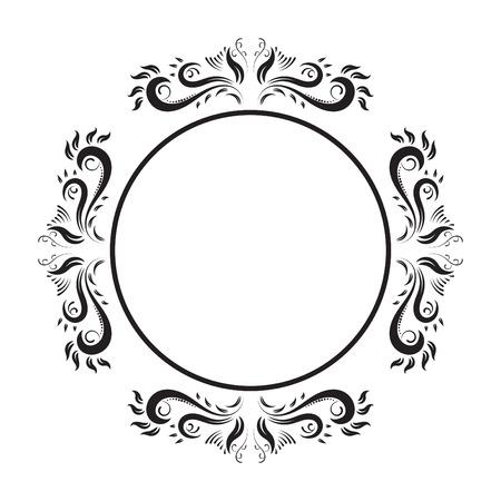 moulding: Vintage Ornate circle Frame. vector retro frame.