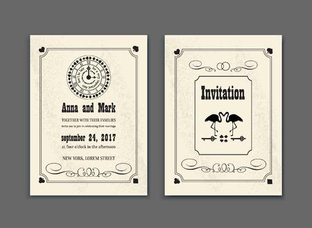 Karten Uhren Von Wonderland. Vector Illustration Für Grafik-Projekte ...