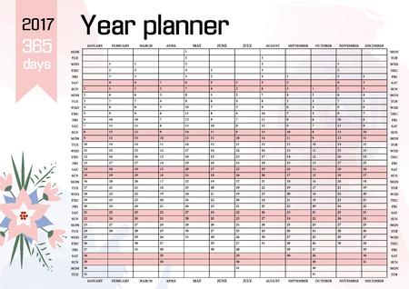 year planning calendar template