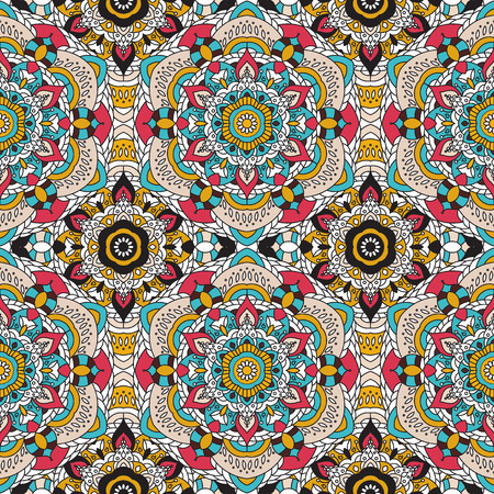 gobelin tapestry: Vector seamless pattern. national decorative element for fabric ot design. Islam, Arabic, Indian, ottoman motifs. Oriental colorful mandala.