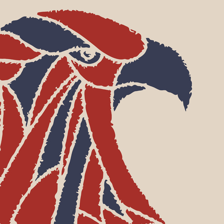 billboards: background with an eagle head. for posters, billboards, t-shirts.