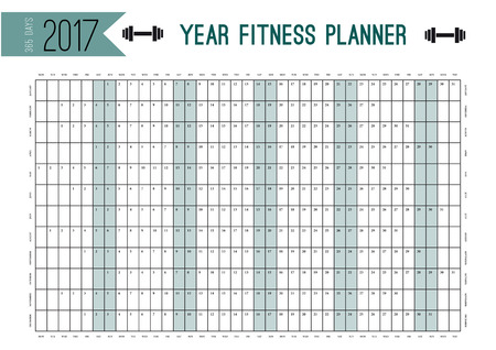 Year wall planner template plan out your whole fitness year vector year wall planner template plan out your whole fitness year with this calendar vector design for fitness sport and diet maxwellsz