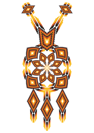 necklet: Vector Ethnic necklace Embroidery for fashion women. Mexican, indian tribal pattern for print or web design. jewelry, necklace, print on fabric. Illustration