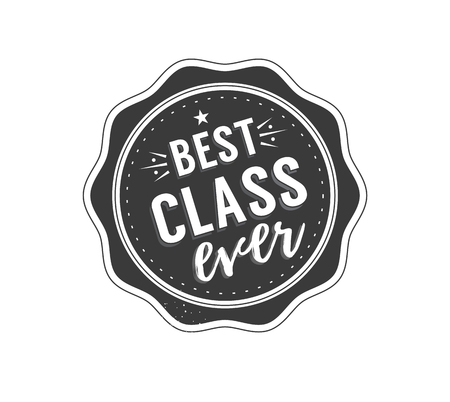 master degree: Black colored senior class of 2017 text sign with the stars vector illustration.