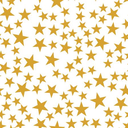 Golden stars seamless pattern Illustration