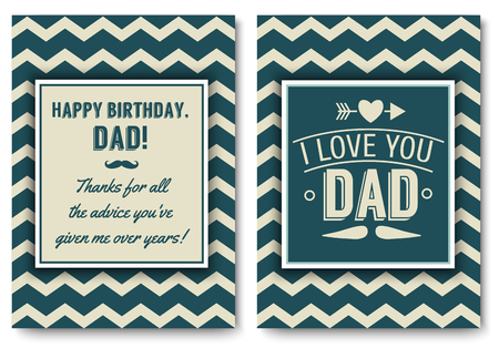 Dad birthday card with words of love. Stock Vector - 75455421