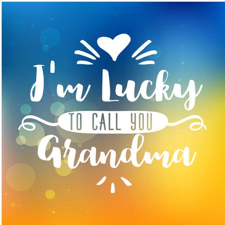 Best grandma handwritten in white Illustration