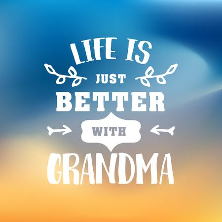 older: Best grandma handwritten in white Illustration
