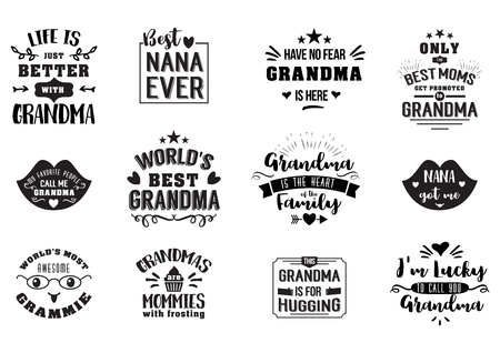 Best grandma handwritten in black