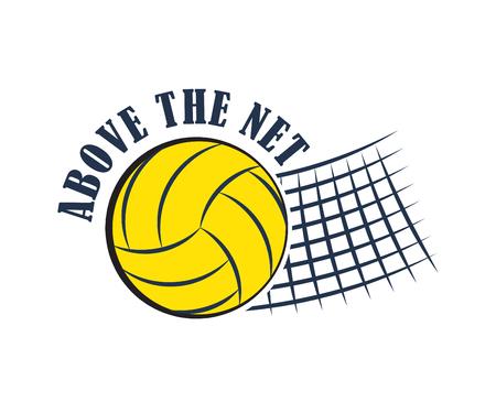Badge de volleyball, illustration vectorielle Vecteurs