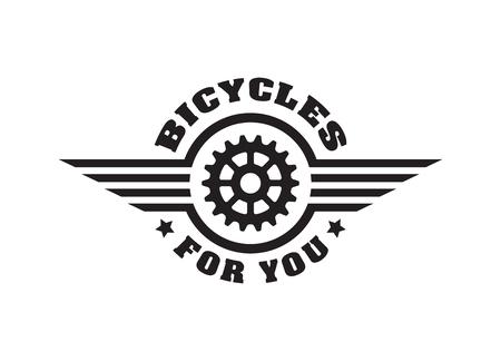 Bike badge vintage style Illustration