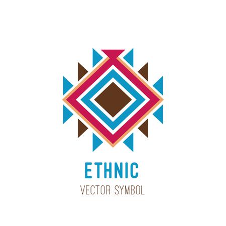 ネイティブの部族のロゴ  イラスト・ベクター素材