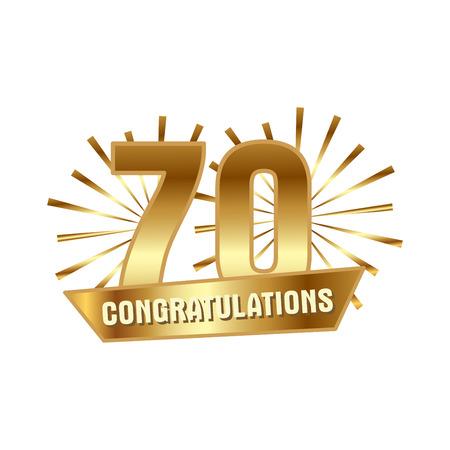 Anniversary golden seventy years number
