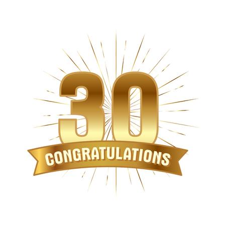 Anniversary golden thirty years number