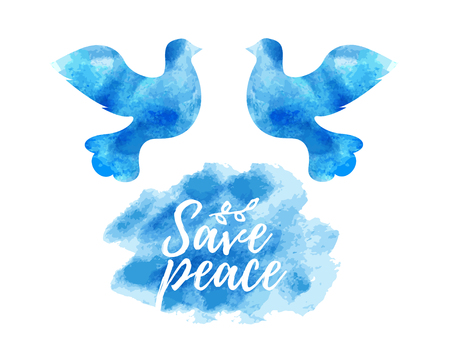 Free flying Peace day - white dove symbol