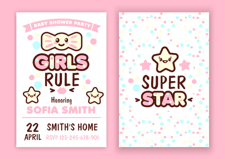 baby announcement card: Baby shower party invitation