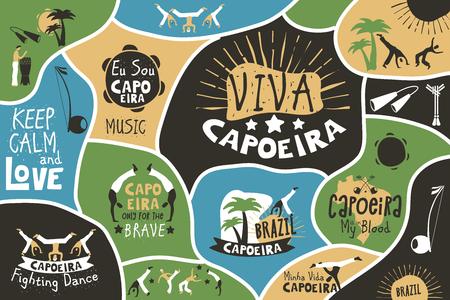 Capoeira brazil poster Reklamní fotografie