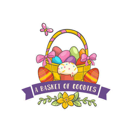 Vector Happy Easter Label