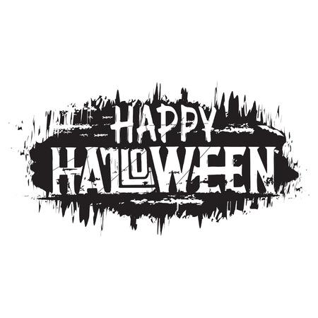 Happy halloween. Hand drawn grunge text, digital lettering. Çizim