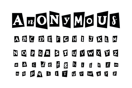 Anonymous letter set for secret message and conspiracy