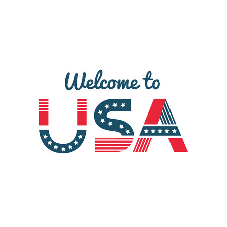 Welcome to USA greeting to a guest or newcomer