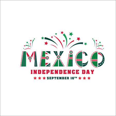 Mexico independence day card, national holiday banner