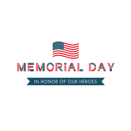 Memorial day, remember and honor usa patriotic holiday