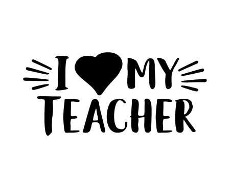 Best teacher ever. Hand lettering design poster ranking professional highest degree, most excellent career result. Çizim