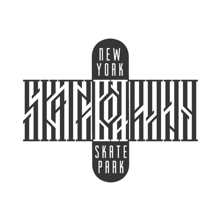 Skateboarding typography t-shirt design. Urban freestyle skating. Иллюстрация