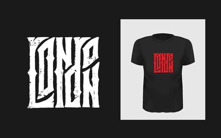London gothic lettering. Hand written Great Britain quote for print on sport t-shirt and England apparel, poster.