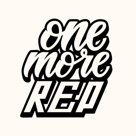 One More Rep. Workout and Fitness Gym Design Element Concept. sport Custom Vector Sign typography.