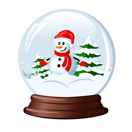 snow globe snowman within