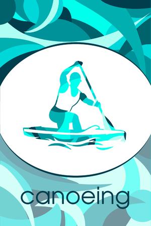 canoeing Illustration