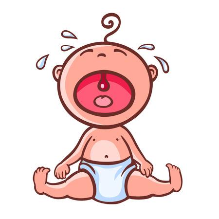 bebé llorando  Ilustración de vector
