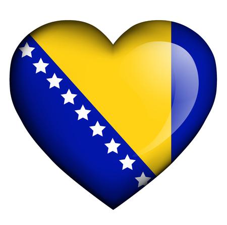 flag of bosnia and herzegovina Illustration