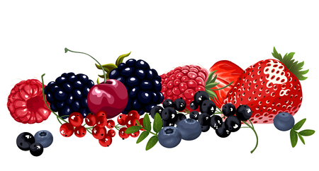 Set of juicy berries