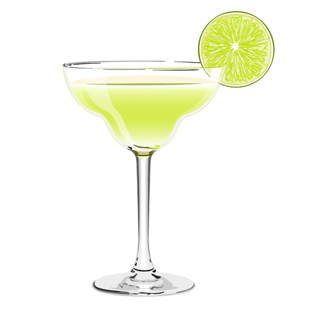 margarita cocktail Иллюстрация