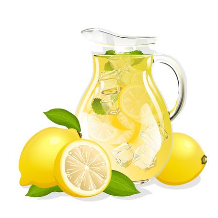 Brocca di limonata Vettoriali